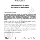Multiple-Choice-Tests zur Differenzierbarkeit